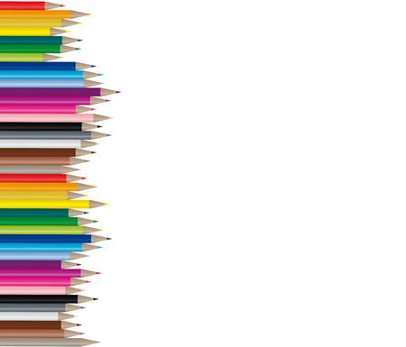 knutsel spullen: Color potloden in vele verschillende kleuren, handig te gebruiken omdat het een vector afbeelding!