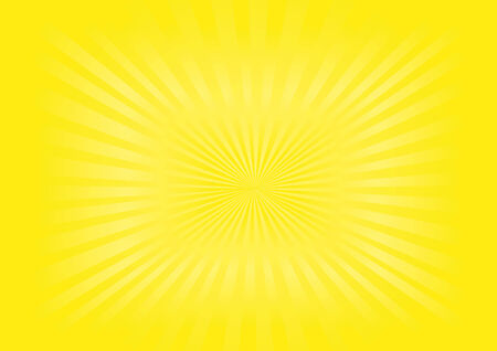 Illustration of yellow sunburst background Vector