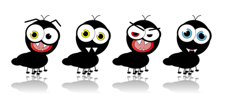 Different ants with different emotions Stock Vector - 4691616