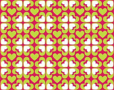 Seamless hearts pattern photo