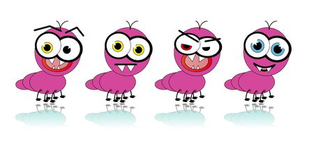 stare: Pink Ant Cartoon