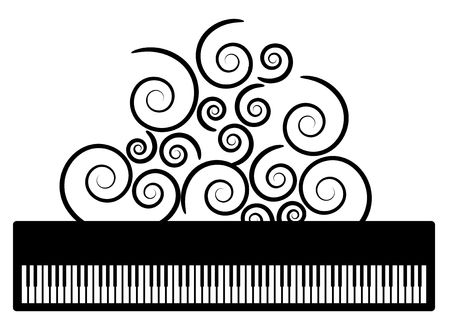 swooshes: Piano with swooshes