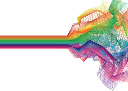 Un vector de la raya de fondo multicolor en colores del arco iris Foto de archivo - 5187866