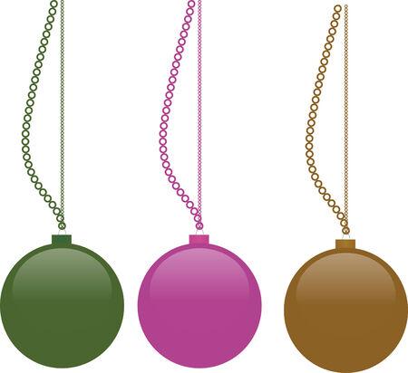 christmass: Bolas Vector christmass para la decoraci�n en el hogar Vectores