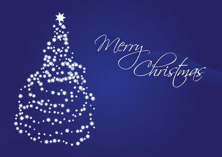 Merry Christmas, christmas card - with a christmas tree Vector