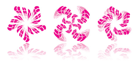 be the identity: 3 pink design graphics - can be used for company identity