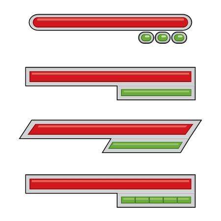 Simple Life Bar Game Assets Illustration