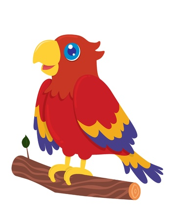 Cute Parrot Cartoon Stock Vector - 19412933