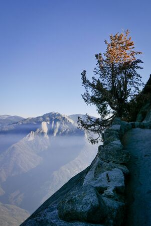 Moro Rock is a granite dome rock formation in Sequoia National Park, California, United States
