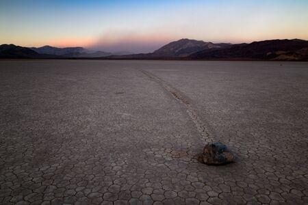Racetrack Playa Death Valley, Wandering stones Banque d'images