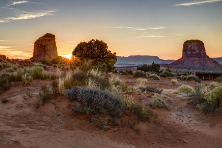 Monument Valley View in sunset