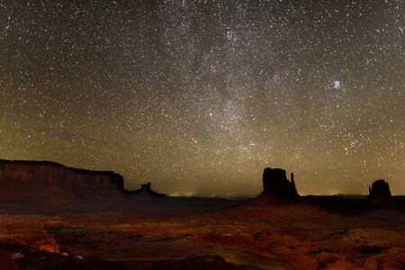 Monument Valley View in night 写真素材