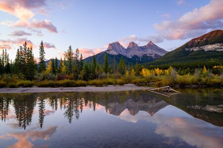 The Three Sisters Alberta Bannf National Park