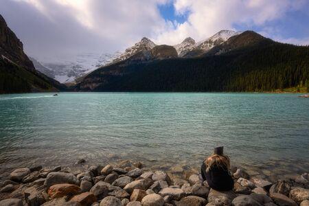 Lake Louise, Banff, Alberta Kanada travel destination with turquoise water