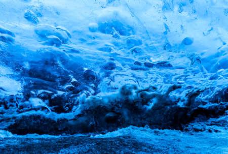 Blue Crystal Ice Cave Tour from Jokulsarlon Glacier Lagoon Stock Photo