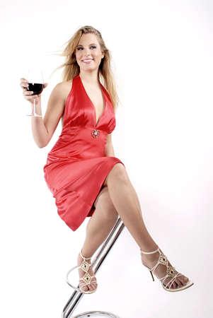 degustating: Red red wine Stock Photo