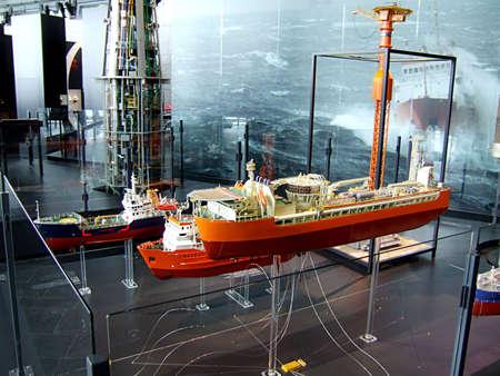 Oil museum interior in Stavanger, Norway  photo