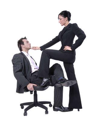 seducing: Coppia giovane - donna � sedurre il suo collega