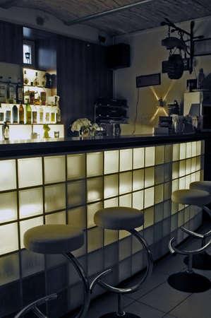 retail scenes: Picture of modern bar interior
