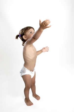 nappies: Picture of girl in nappies playing with bubbles