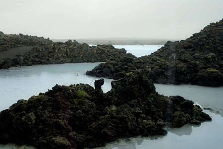 The Blue Lagoon, a geothermal bath resort in Iceland. Stock Photo - 3780680