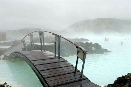 The Blue Lagoon, a geothermal bath resort in Iceland. Stock Photo - 3780632