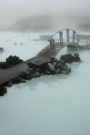 The Blue Lagoon, a geothermal bath resort in Iceland. Stock Photo - 3780631