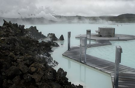 The Blue Lagoon, a geothermal bath resort in Iceland. Stock Photo - 3780654