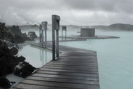 The Blue Lagoon, a geothermal bath resort in Iceland. Stock Photo - 3780634