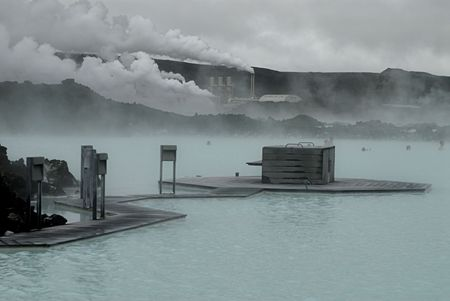 The Blue Lagoon, a geothermal bath resort in Iceland. Stock Photo - 3780658