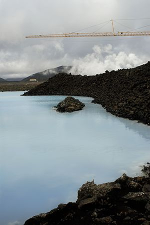 The Blue Lagoon, a geothermal bath resort in Iceland. Stock Photo - 3780651