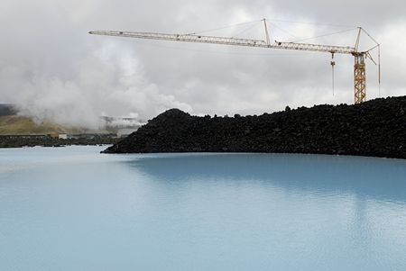 The Blue Lagoon, a geothermal bath resort in Iceland. Stock Photo - 3780655