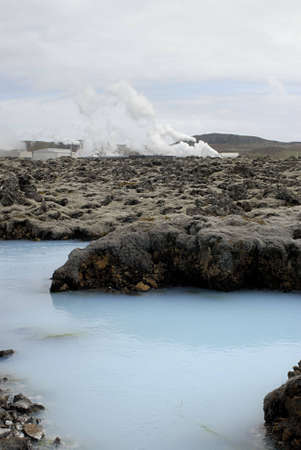 The Blue Lagoon, a geothermal bath resort in Iceland. Stock Photo - 3780676