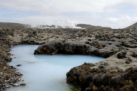 The Blue Lagoon, a geothermal bath resort in Iceland. Stock Photo - 3780666
