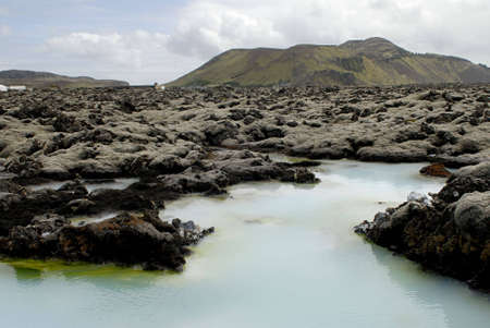 The Blue Lagoon, a geothermal bath resort in Iceland. Stock Photo - 3780669