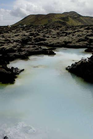 grindavik: The Blue Lagoon, a geothermal bath resort in Iceland.