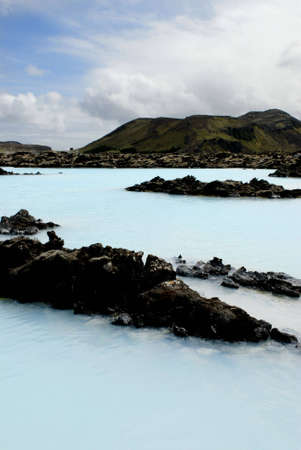 The Blue Lagoon, a geothermal bath resort in Iceland. Stock Photo - 3780637