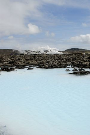 The Blue Lagoon, a geothermal bath resort in Iceland. photo