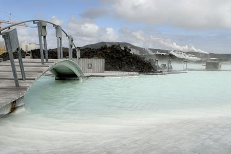 The Blue Lagoon, a geothermal bath resort in Iceland. Stock Photo - 3780653