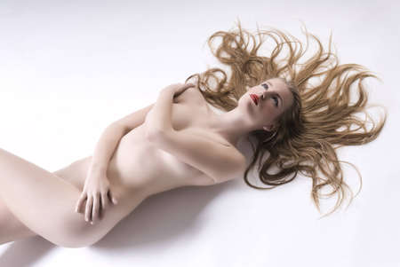 Sexy nude girl lying in studio shot. Stock Photo - 10814706