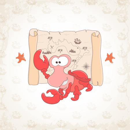 cangrejo: cangrejo de mar pueril ejemplo tem�tico.