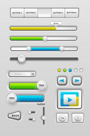interface web: �l�ments d'interface utilisateur de l'interface web Illustration