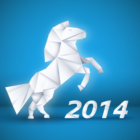 year of horse: New year Horse background concept. vector illustrations