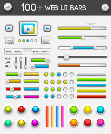 big collection of web ui elements. tamplate for your design Vector