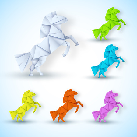 year of horse: New year Horse background concept. vector illustration tamplate for your design Illustration