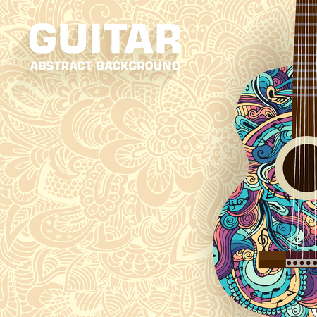 Abstract musical notes on a background. Vector illustration concept design