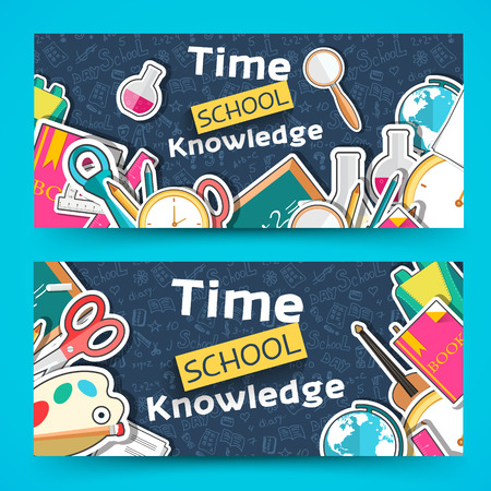 pocket book: back to school abstract background of flat icons notebook concept. Vector illustration design