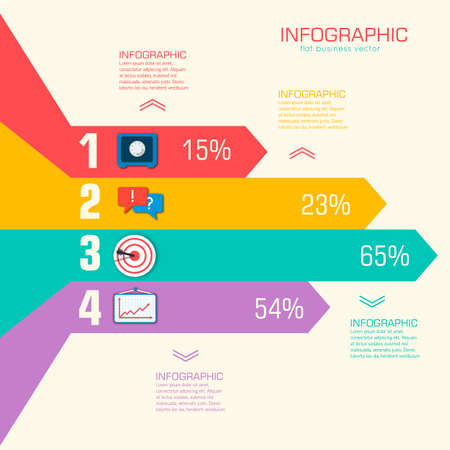 speach: Business flat infographic template with text fields. Vector Illu