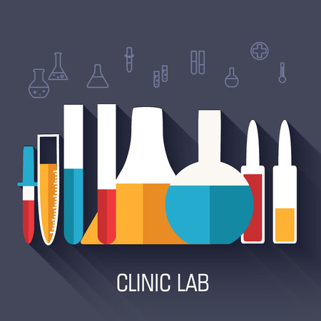 lab technician: Retro experiments in a chemistry laboratory background concept.