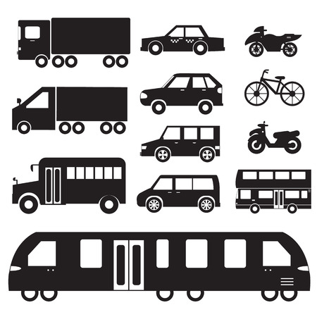 Flat cars concept set icon pictogram illustration design. Tampla Vector